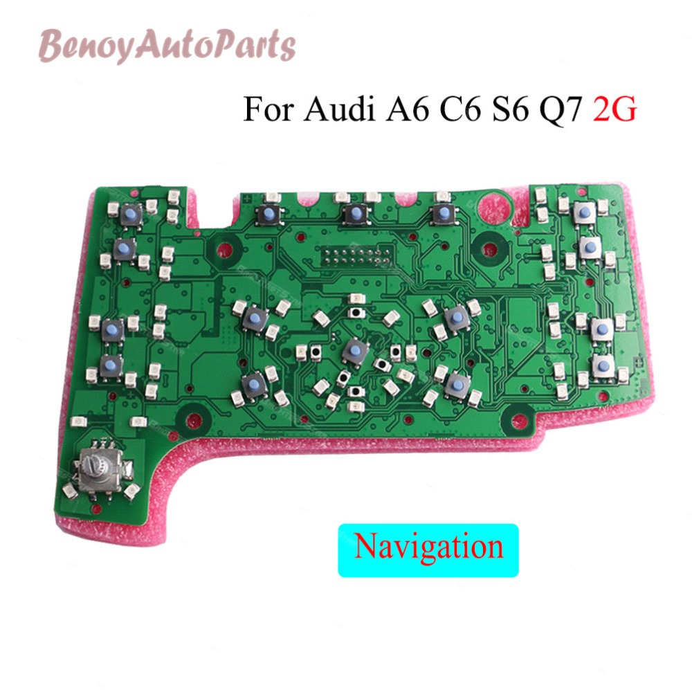 MMI Multimedia Interface Control Panel Circuit Board with Nav LHD For Audi A6 C6 S6 Q7