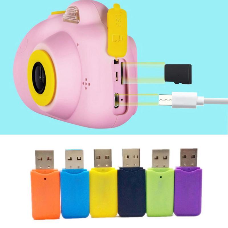 Enfants jouet caméras 16G 2 pouces HD écran 800W Pixel numérique Mini caméra pour enfants + lecteur de carte carte mémoire caméra numérique - 6