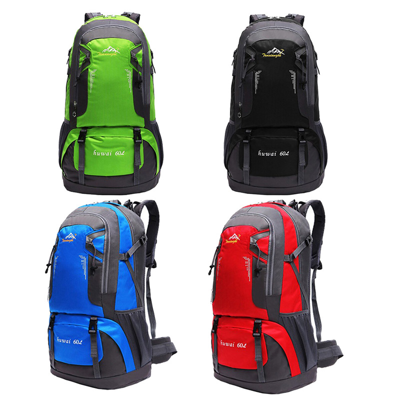 60L Outdoor Backpack Nylon Mountaineering Camping Hiking Ski Waterproof Bag Outdoor Travel Sport Backpack Rucksack Computer Bags 60l fashion large waterproof men travel bags backpack travel mountaineering backpack bag nylon luggage bags