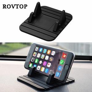 Image 1 - Car Dashboard Non slip Mat Rubber Mount Phone Holder Pad Mobile Phone Stand Bracket For Samsung Mobile Holder #2