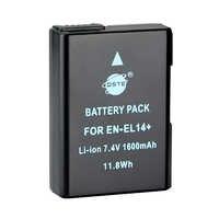 DSTE EN-EL14 en-el14 li-ion Batterie pour Appareil Photo Nikon D3100 D3200 D5100 D5200 DF P7000 P7100 P7200 P7700 P7800 D3400 D5600 D3500