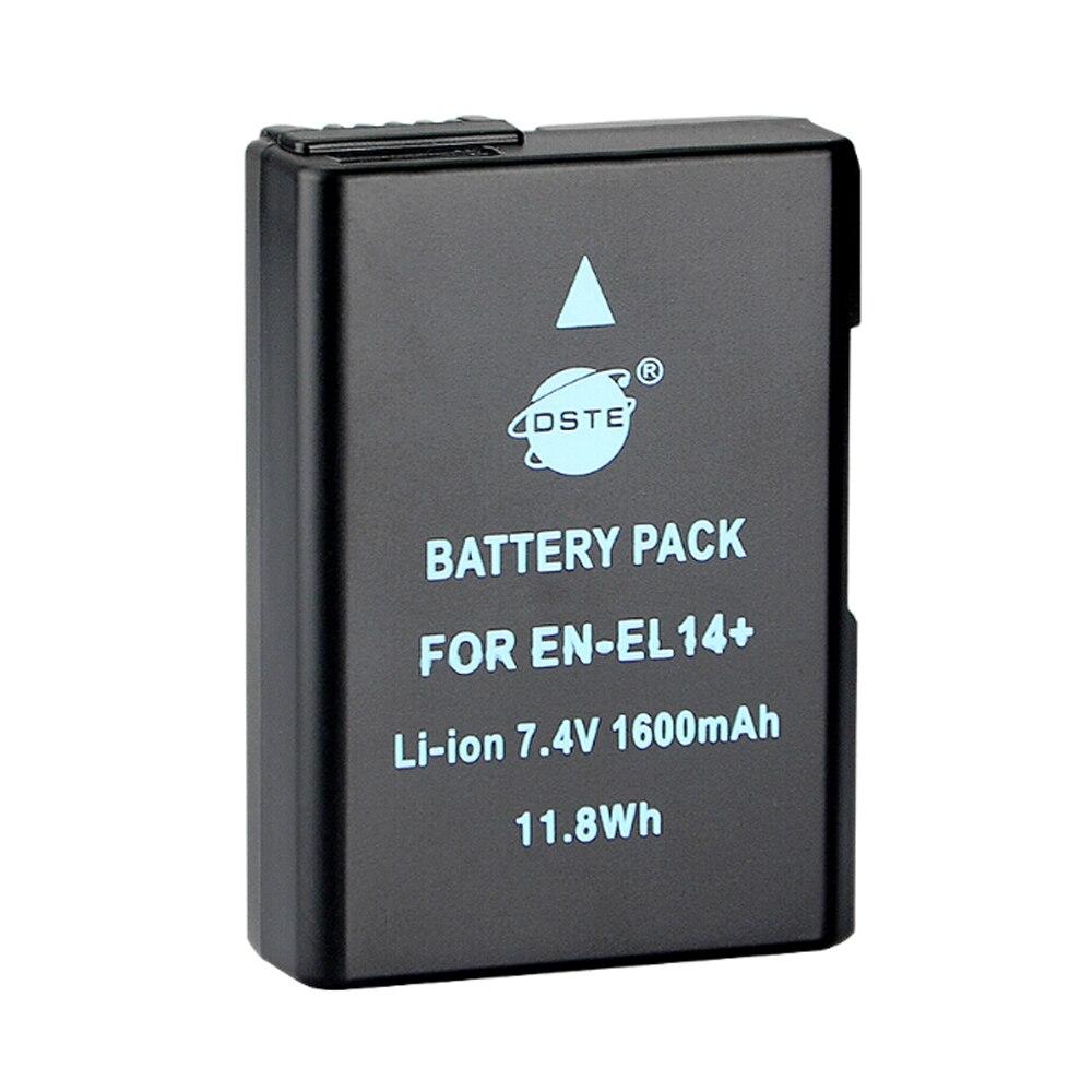 DSTE EN-EL14 en-el14 li-ion Camera Battery for NIKON D3100 D3200 D5100 D5200 DF P7000 P7100 P7200 P7700 P7800 D3400 D5600