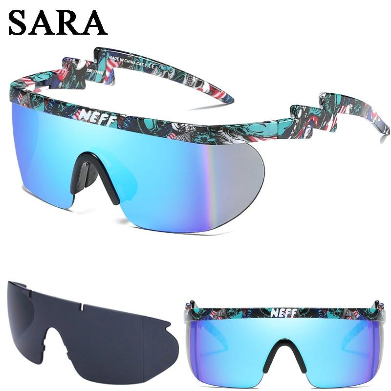 2 Lens Gafas Feminino New Fashion Brand Neff Sunglasses Vintage Sun Glasses Coating Eyewear Driving Men/Women Oculos De Sol