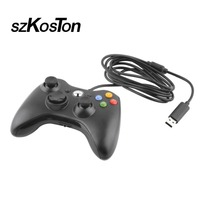 SzKosTon USB Wired Gamepad Joypad Controller For Microsoft For Xbox Slim 360 For Windows7 Joystick Game