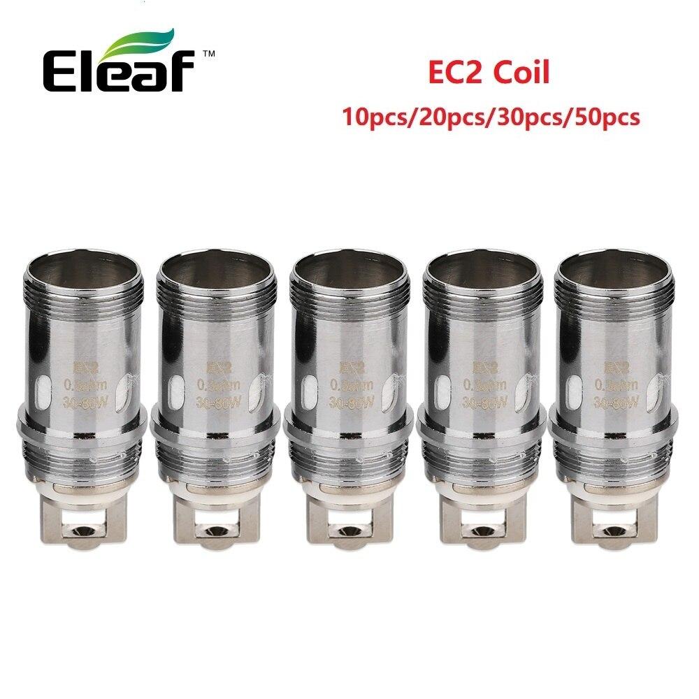 10/20/30/50pcs Original Eleaf EC2 Coil Head 0.3ohm/0.5ohm Coil Vape Vaporizer Fit Eleaf Melo 4 Atomizer EC2 Coil Melo 4 Coil