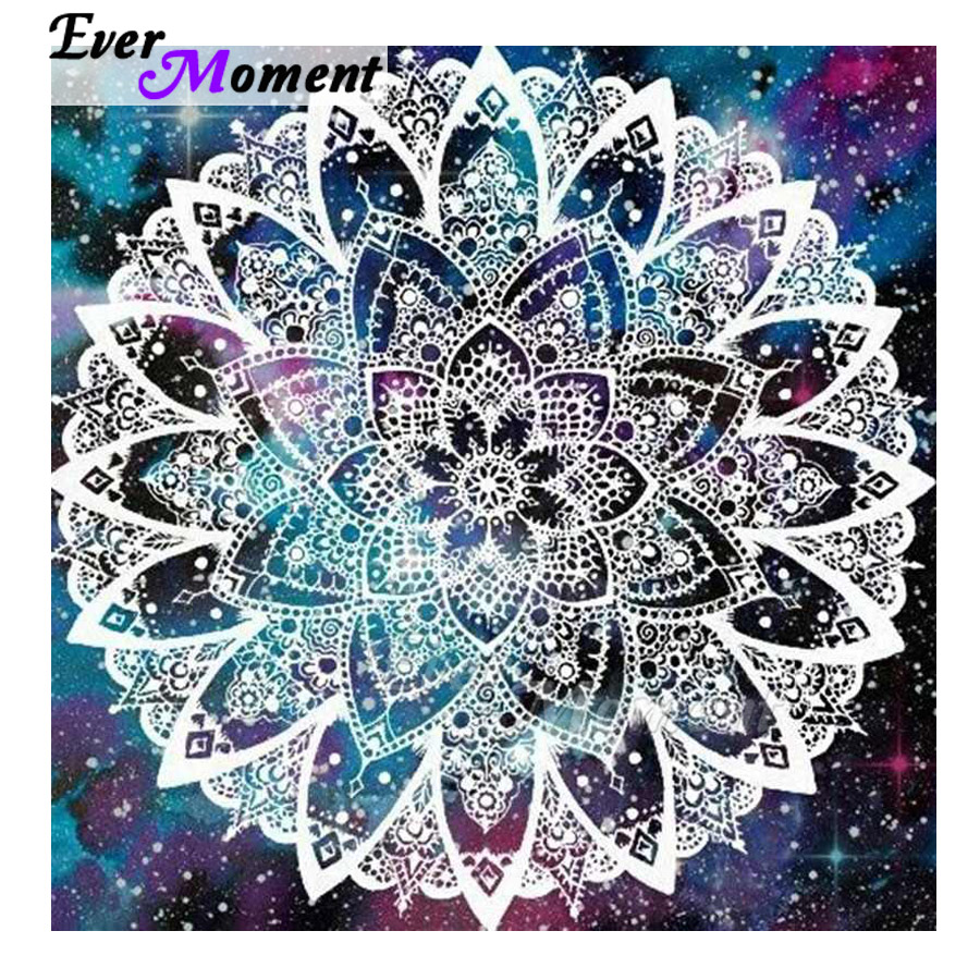 Ever Moment Diamond Painting Home Decoration Picture Of Rhinestone Mandala Full Square Drill Diamond Embroidery Mosaic ASF1651