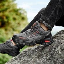 Baru Tinggi Top Fashion Pria Sepatu Hiking Mendaki Gunung Olahraga Sneakers  Outdoor Ukuran Besar Sepatu Hangat 9f34d74db3