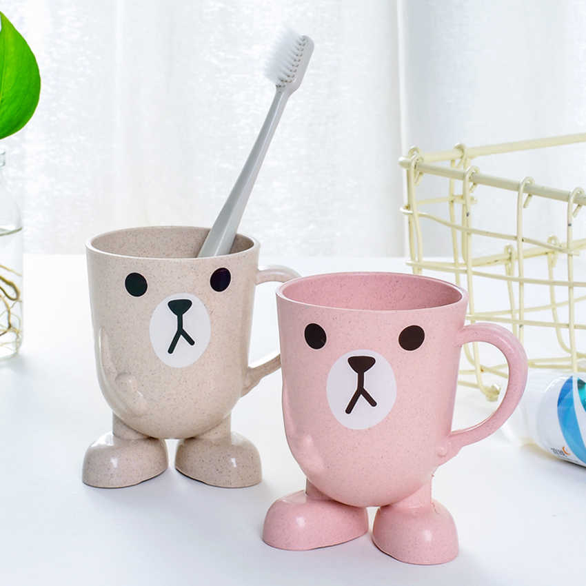 1 шт. Милая мультяшная чашка для кофе с молоком детская мультяшная спринцовка чашка держатель для зубной щетки ванная комната полоскание кружка Детские тренировочные чашки
