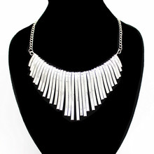 Fashion Bohemia Gold And Silver Color Maxi Colar Choke Necklace Big Chunky Bib Collares Grandes Gros Collier Femme 2019