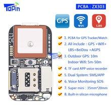 חדש ZX303 PCBA GPS Tracker GSM GPS Wifi Locator LBS SOS מעורר אינטרנט APP מעקב TF כרטיס קול מקליט SMS לתאם מערכת כפולה