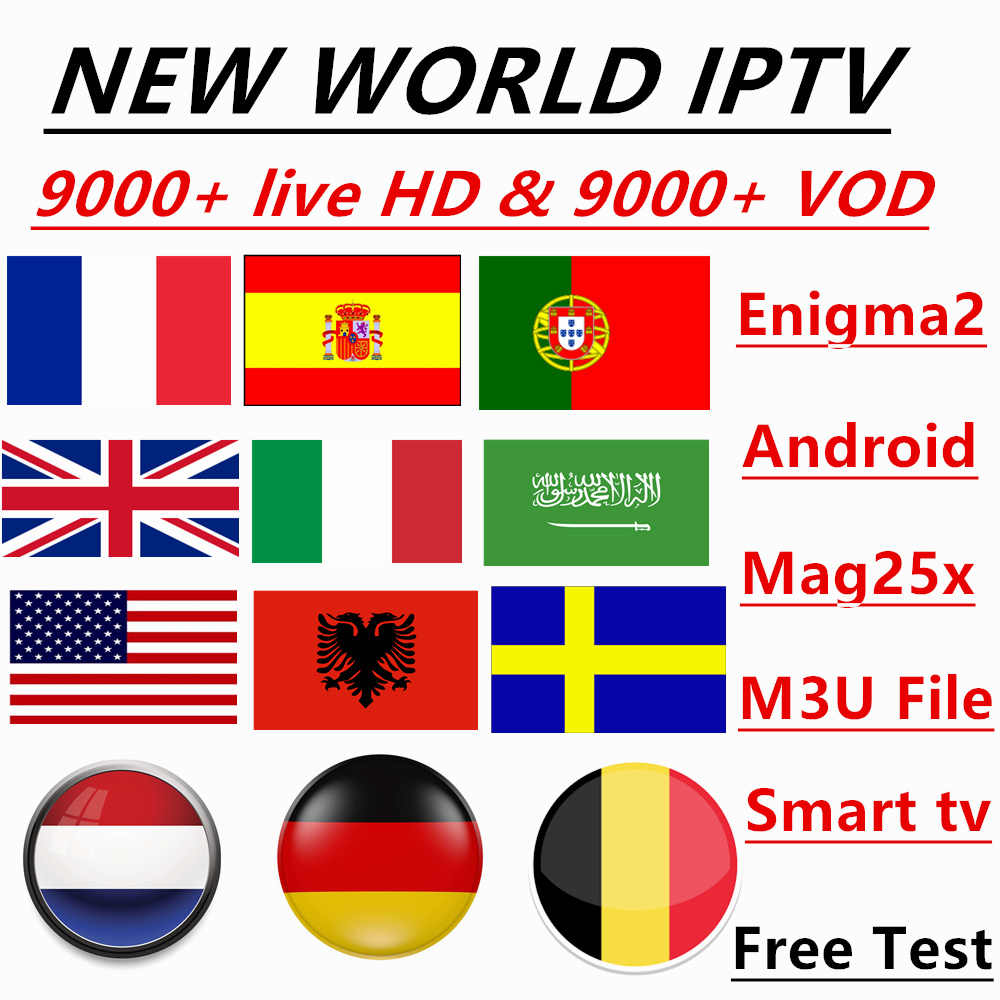 WORLD IPTV 9000+ Live Channels And Vod 4k HD Best EUROPE XXX IPTV Arabic Sweden UK USA French America IPTV For M3U Android Apk