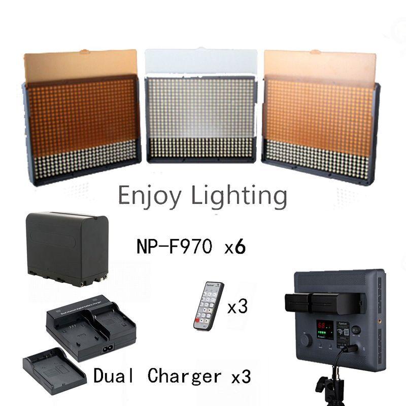 Aputure 2x HR672W + HR672S CRI 95+ LED Video Light Kit, Dual charger ,6* NP-F970