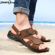 Mens Sandals Summer Outdoor Men Beach Shoes Comfort Genuine Leather 2019