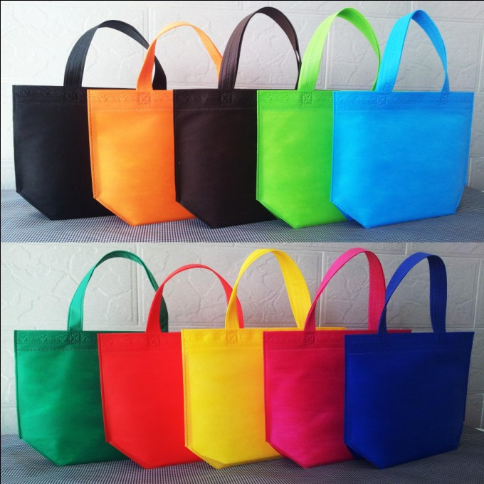 Size 33*26*10 Different colour non woven shopping bags recyle handles 1 - Yiwu Zilue Trading Co.,Ltd Store store