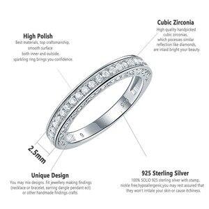 Image 4 - Newshe 925 เงินสเตอร์ลิงตรงSTACKABLEงานแต่งงานแหวนหมั้นสำหรับผู้หญิงเครื่องประดับอินเทรนด์ขนาด 5 12