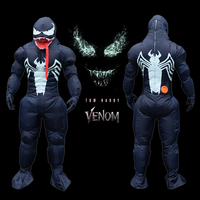 Newest Adults Venom inflatable Costume Movies Cosplay Costume Funny Party Dress Unisex Muscle Costume for Woman Man