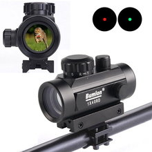 Tactical Hunting Holographic 1 x 40mm Airsoft Red Green Dot Sight Rifle Scope 11 & 20mm Rail Mount Free Shipping HT5-0003 цена 2017