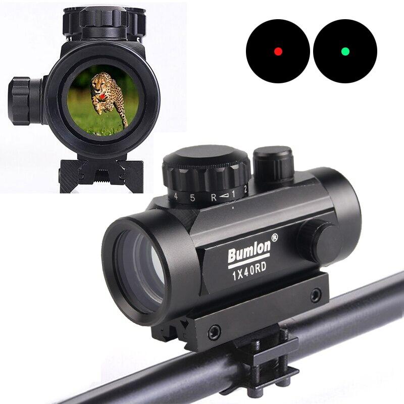 Holographische 1x40 Red Dot Anblick Airsoft Rot Grün Dot Sight Scope Jagd Umfang 11mm 20mm Schiene montieren Kollimator Anblick HT5-0013