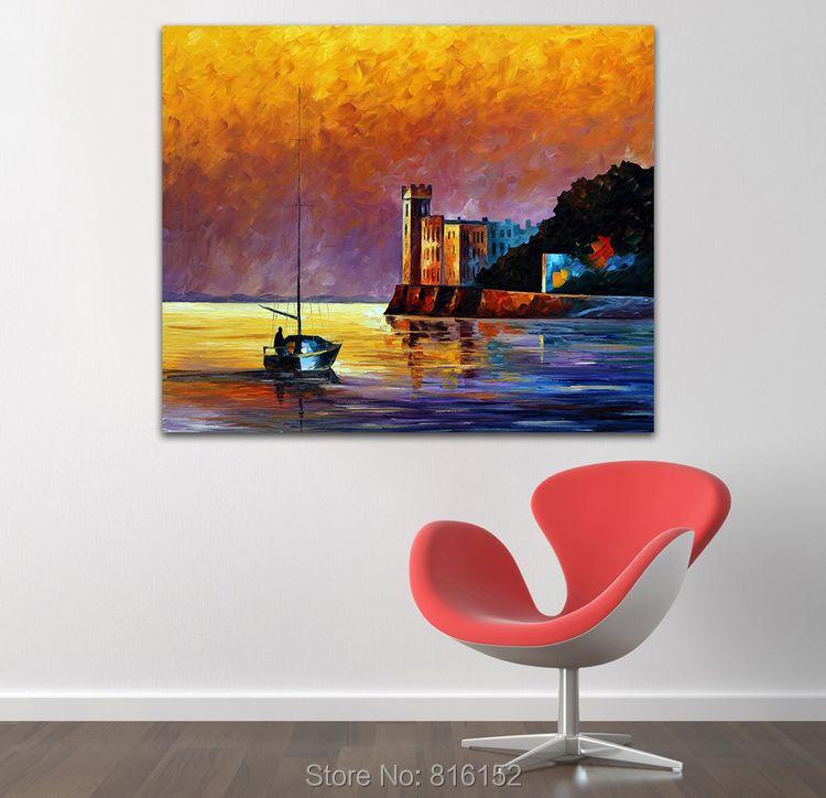 golfo de trieste mar abstracto pinturas impresas sobre lienzo home office cafe decoracin de la pared