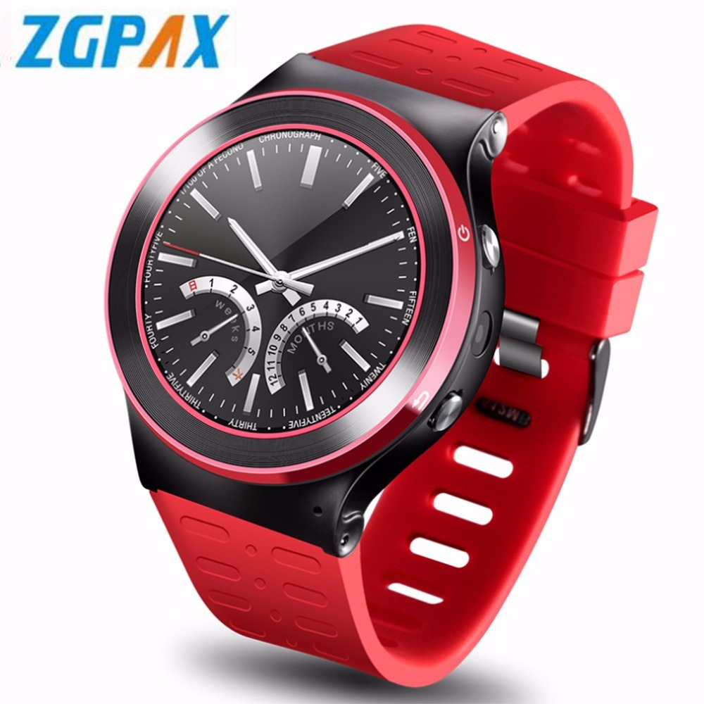 ZGPAX S99 Quad Core 8G ROM GPS WiFi 3G Bluetooth Heart Rate Smart Watch Phone As Gift For Android IOS For Xiaomi new zgpax s99b gsm 3g wcdma quad core android 5 1 smart watch gps wifi 2 0mp hd camera pedometer heart rate pk kw88 d5 s99 x01