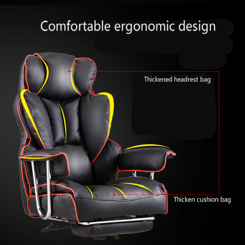 Купить с кэшбэком Luxurious Gaming Chair Home Reclining Comfortable Massage Boss Chair Seat with Footrest Lifted Swivel Office Chair Silla Gamer