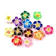 LF 30Pcs Mixed Clay Flower 18mm Decoration Crafts Flatback Cabochon Scrapbooking Embellishments Kawaii Diy Accessories