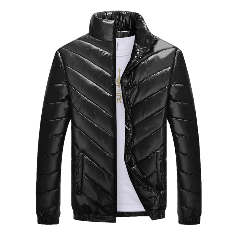 ФОТО 5XL winter men's cotton clothing warm warm jacket Stand Collar Coat Hooded Warm Thickening warm Parkas Casual Jaqueta Masculina