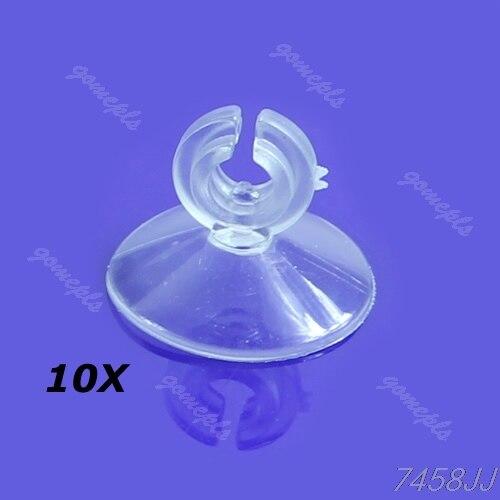 10 Stücke Aquarium Weichen Kunststoff Saug Sucker Cup Halter Rohr Clip Neue G03 Drop Schiff Clear-Cut-Textur