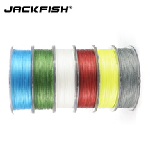 JACKFISH 8 strand 100M PE Braided Fishing Line Super Strong Fishing Line with package Carp Fishing Saltwater smooth braided line