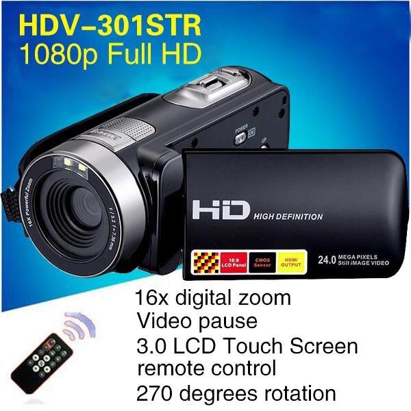 1080 P 24MP caméra numérique enregistreur caméscope DV DVR 3.0 ''pouces LCD 16x Zoom Cam