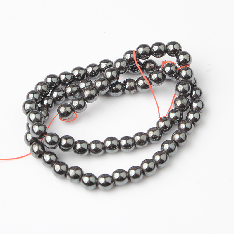 LIngXiang Fashion natural Hematite energy loose beads suitable for DIY men and women 39 s bracelet necklace Jewelry Accessories in Beads from Jewelry amp Accessories