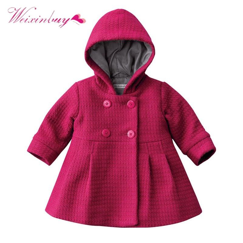 2017 0 3Y Winter Baby Girl Jacket Hooded Baby Girl Toddler -2229
