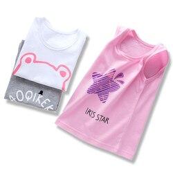 2018 летняя детская футболка для мальчиков, толстовка с рисунком для девочек, топы с круглым вырезом, 100% хлопок, футболки без рукавов, детская ...