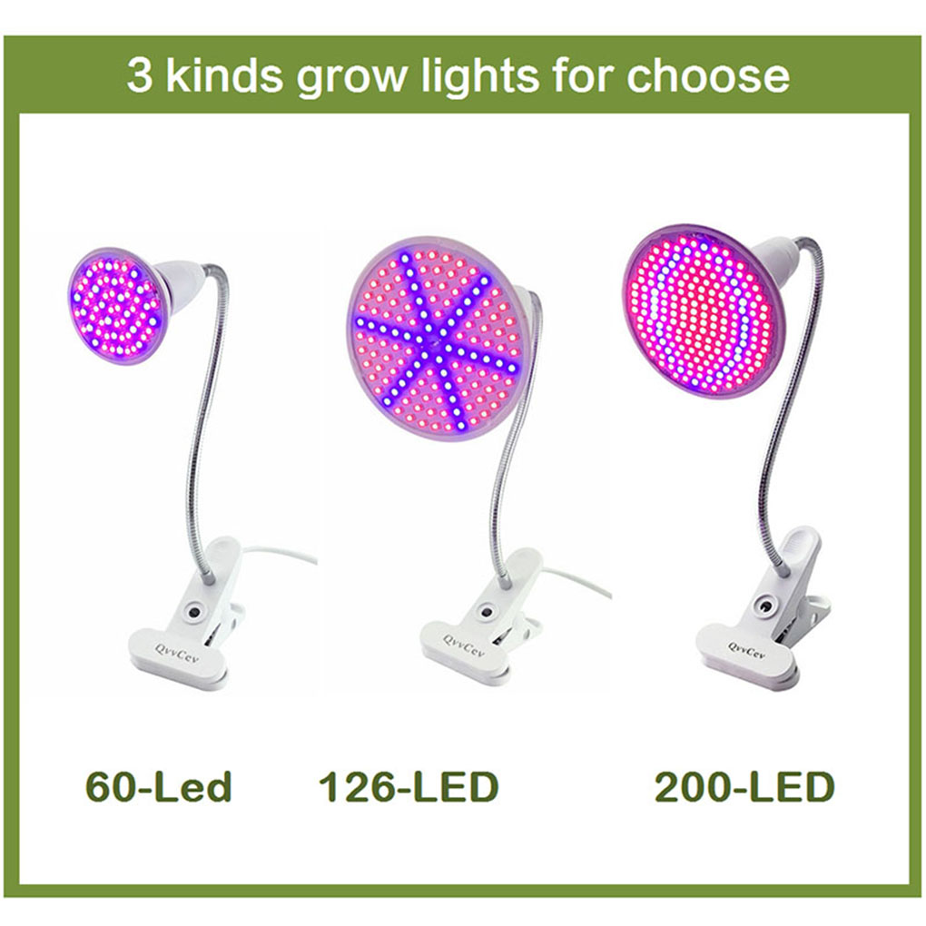 LED Pot Culture Fill Light Bulb Lamp Holder Clip Plant Flower Vegetable Grow Indoor Greenhouse Hydroponics