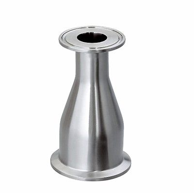 51mm 2 Turn to 25mm 1 Pipe O/D 2 to 1.5 Tri Clamp Reducing 304 Stainless Steel Sanitary Reducer Pipe Fitting Homebrew b546 o to 220
