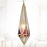 Miedzi lampa wisząca salon badanie sypialnia wisiorek światła Lampa lampa wisząca ZA ZL319 Southeast Asian stylu miedzi cyny