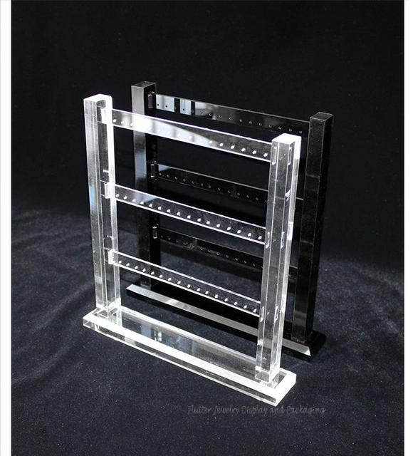 High Quality Acrylic 2 3 4 Layers Earring Display Stand Rack Stud Holder Shelf Jewelry Showcase
