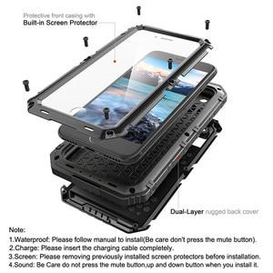 Image 2 - Sang trọng giáp Kim Loại Nhôm Đựng điện thoại Chống Nước cho iPhone XR X 6 6S 7 8 Plus XS Max Chống Sốc chống bụi Dày Bao