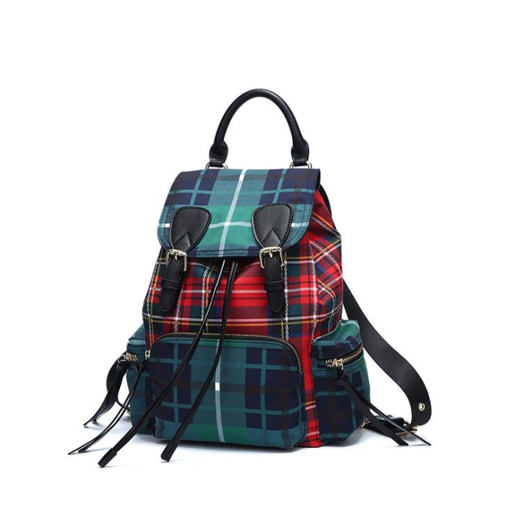 Hot selling designer single shoulder bag 2018 new style student backpack popular lattice large capacity canvas backpack amelie galanti ms backpack fashion convenient large capacity now the most popular style can be shoulder to shoulder many colors