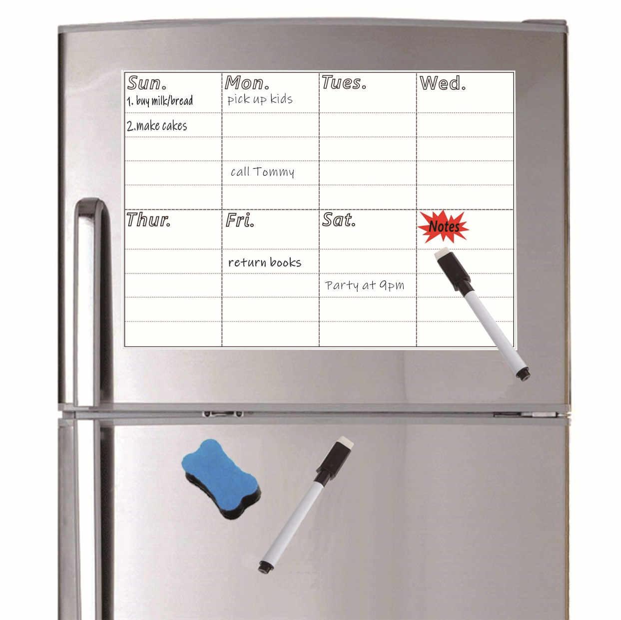 A4 Size Magnetische Wekelijkse Planner Board Droog VEEG Whiteboard Dag Planner Magneet Decor Schrijfbord Notepad Marker Gum