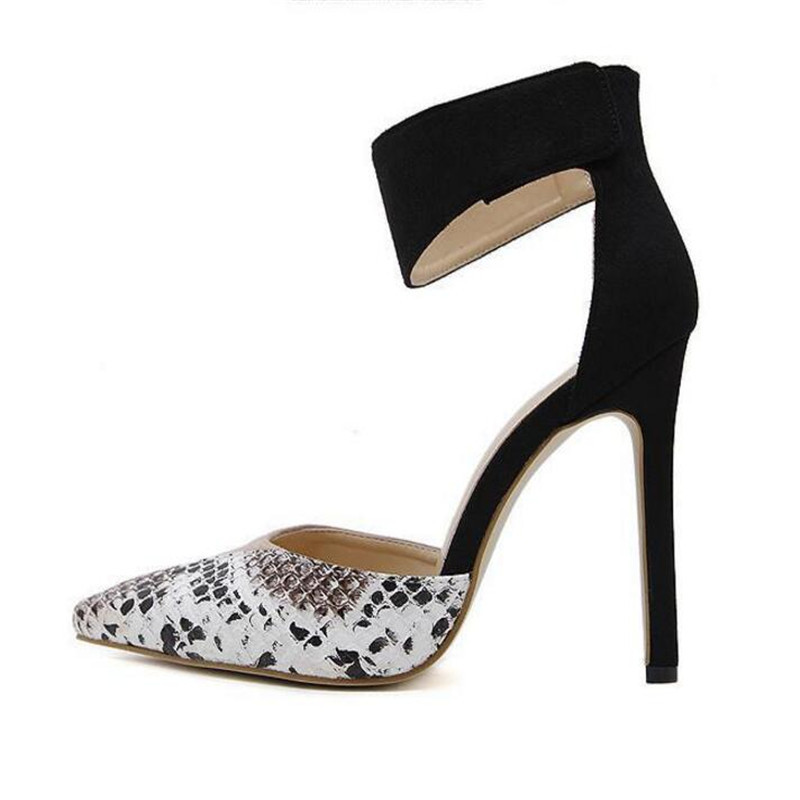 Banquet Tacones Punta Party Black Altos Bombas Tobillo Hook Serpentina  Mezclados 2018 Ladies Atractivas Colores Mujeres ... 5922e67d0ac1