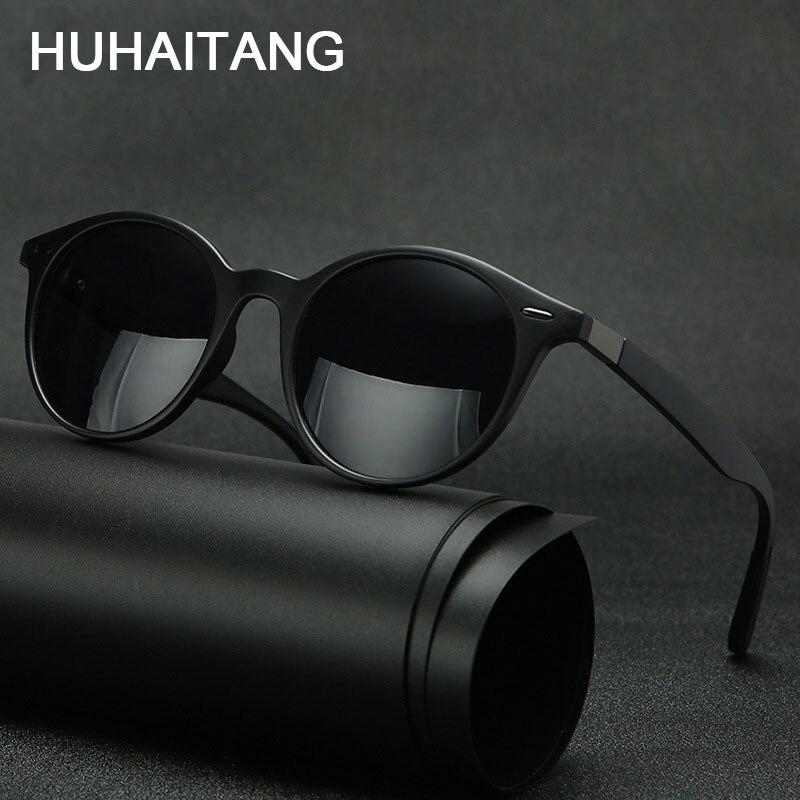 HUHAITANG Outdoor Polarized Men Sunglasses Luxury Round Rivet Women Sun Glasses Mens Brand Designer Driving Sunglass For Womens