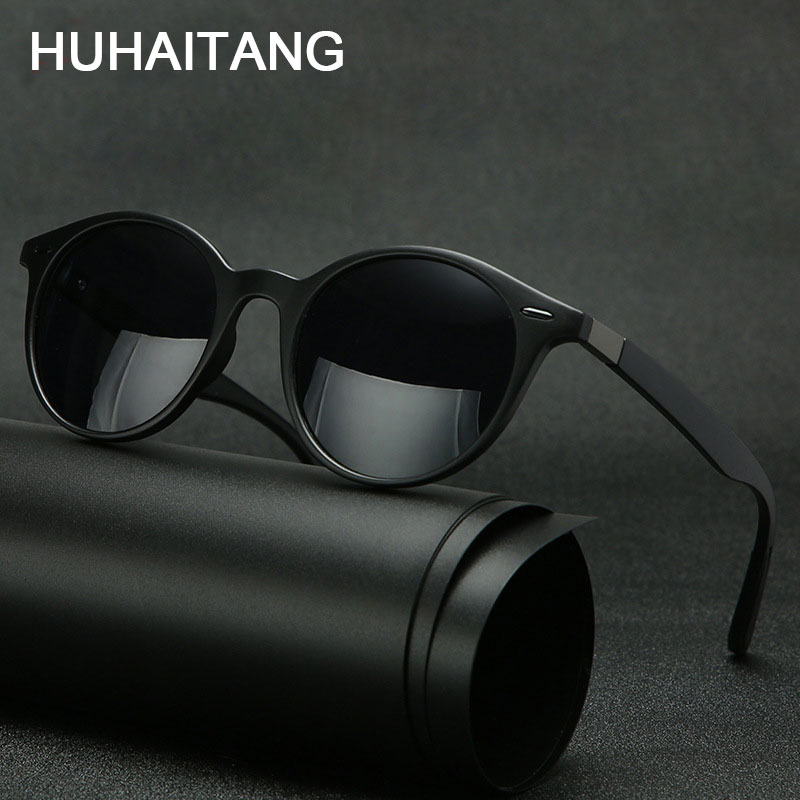 HUHAITANG Outdoor Polarized Men Sunglasses Luxury Round Rivet Women Sun Glasses Mens Brand Designer Driving Sunglass For Womens