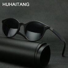 HUHAITANG Outdoor Polarized Men Sunglasses Luxury Round Rivet Women Sun