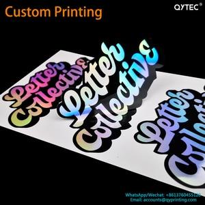 Free Shipping Drop Shipping Custom Printing Logo Label Stickers PVC Vinyl Paper PET PP Kraft Paper Seal Adhesive Sticker Labels(China)
