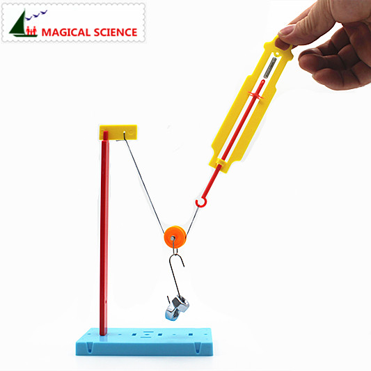 Wholesale Homemade Pulley Dynamometer DIY Materials,home School Educational Kit,Fixed & Moving Pulley Experiments