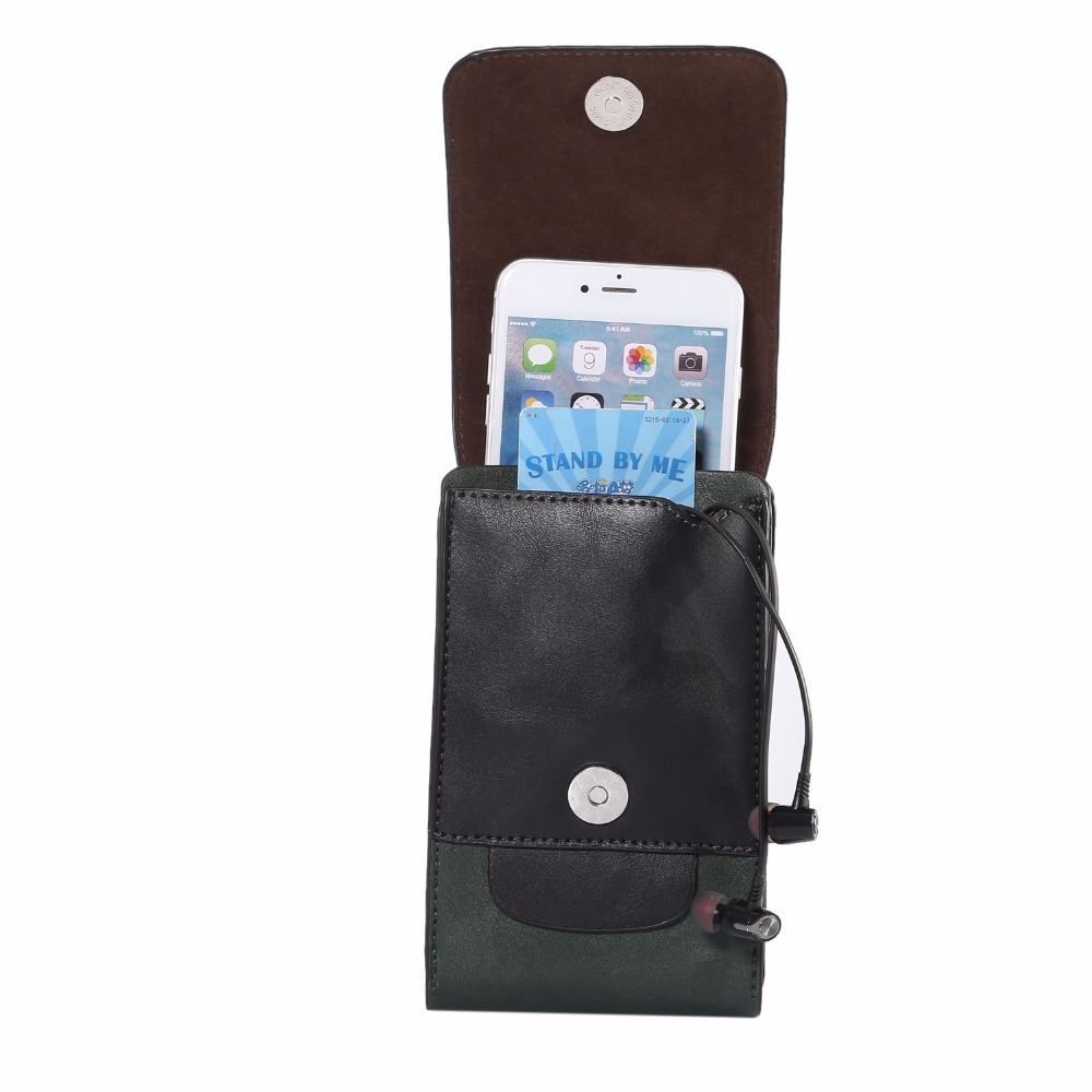 Universal Belt Pouch Wallet Phone Case Cover 3 Pockets For Samsung iPhone Cell Phone