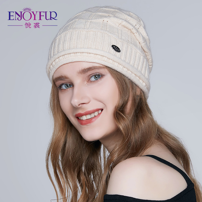 ENJOYFUR High Quality Winter Hats For Women Geometric Type Female Knitted  Caps 2018 New Autumn Beanies 0646b6f0e93