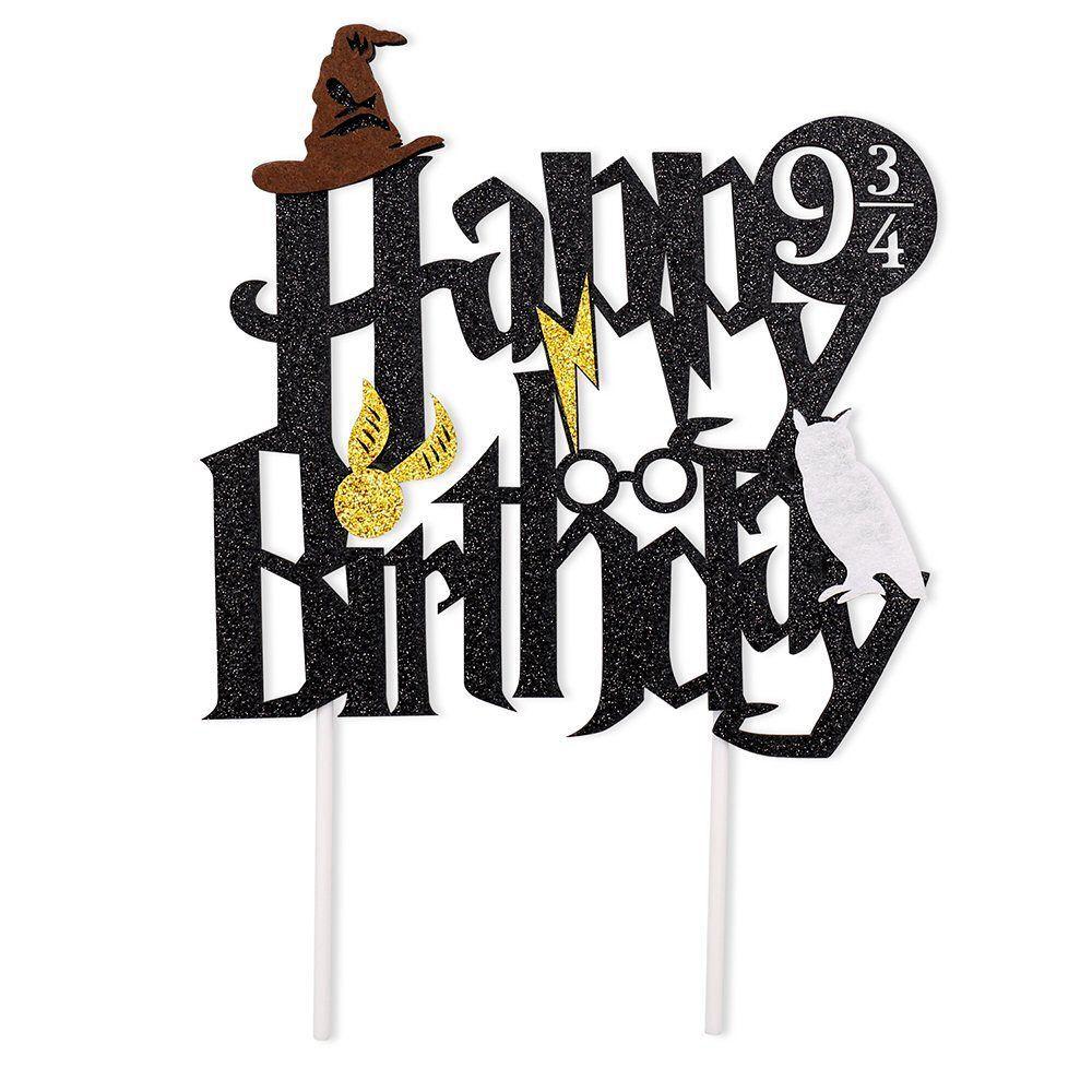 Harry Potter Lightning Birthday Party Cake Topper Baby