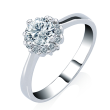 AAA+ Cubic Zirconia CZ Wedding Bridal Ring Women's Fashion Sterling Silver Engagement Ring Full Crystals Size 6-8